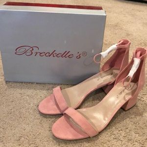 NIB Rose Pink Sandals with Ankle Strap